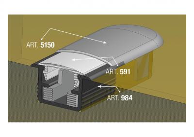 Art. 5150 – End cap for led light support