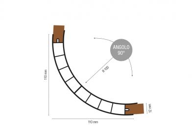Art. 844 – Profilo angolare raggio 100 angolo 90°