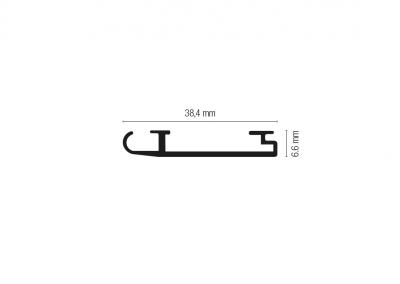 Art. 915 – Profilo terminale in alluminio
