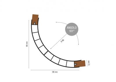 Art. 981 – Profilo angolare raggio 98 angolo 101°
