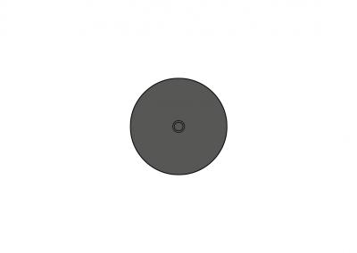 Art. 5176 – Punto di fissaggio ∅ 85 con centraggio