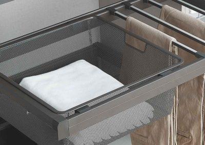 Art. SC-03 – Inserto portabiancheria + portapantaloni con soft closing