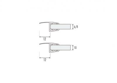 Art. PS-18 – Guarnizione a labbro vetro/vetro