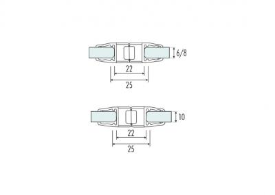Art. PS-8M – Guarnizione magnetica per chiusure a 180°