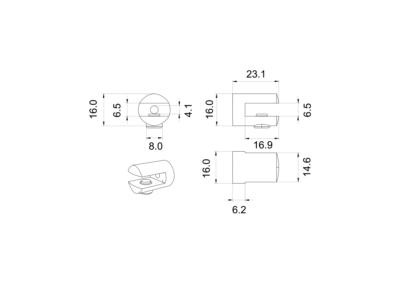 Art. K135 – Morsetto reggimensola cilindrico